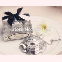 "Wholesale Tea Set For Wedding Gift - FREE SHIPPING! 50 sets lot! ""Tea for Two"" Teapot Tea Infuser Wedding Favors   Bridal Shower Favors Party Gifts"