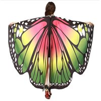 Wholesale Wholesale Costume Accessories - Women's Halloween Costumes Novelty Chiffon Adult Butterfly Wings Halloween Shawl Fairy Costume Accessory Shawl Outfit Size 168*135CM