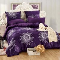 Wholesale romantic pink bedding set for sale - 4Pieces Luxury Bedding Set Romantic Pillowcase Sheet With Elastic Cozy Duvet Cover M
