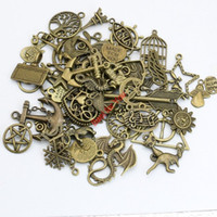 Wholesale Mixed Star Charm - Mixed Antique Bronze Plated Anchor Star Tree of Life Charms Pendants for Necklace Bracelets Jewelry Making DIY Handmade