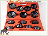Wholesale Audi Filter - 15pc Cup Cap Type Oil Filter Wrench Remover for AUDI BMW NISSAN PORSCHE