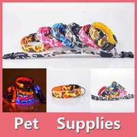 Wholesale White Buckle Jacket - Pet Collar Colorful Led Pet Dog Puppy Cat Kitten Soft Glossy Reflective Collar Safety Buckle Camouflage Disruptive Pattern 2016090803
