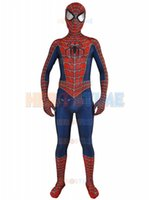 Wholesale Classic Spiderman Spandex Costume - Free Shipping 3D Printed Raimi Spiderman Superhero Costume Spandex Lycra Fullbody Halloween And Cosplay Zentai Suit The Most Classic