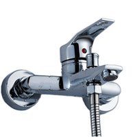 Wholesale Hose Faucet Light - Wall Mounted Mixer Tap Shower Set Bathroom Accessories(faucet+ hose+hand shower+hook)