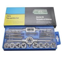 Wholesale Metric Combination Wrenches - 20pcs M3-M12 Screw Thread Metric Plugs Taps Tap wrench Die Wrench Set