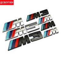 Wholesale Bmw F25 - Car Styling 3D NEW M power Series Logo Sticker Emblem Badge For BMW M X1 X3 F25 E70 E53 X6 E71 E60 E64 E39 E46 M3 M5