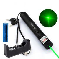 Wholesale Green Laser Pointer Battery Burn - Powerful Burning Green Laser Pointer Pen 5mw 532nm 10Mile 301 Green Laser Pen Cat Toy+18650 Battery+ Charger