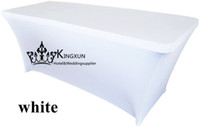 Wholesale Spandex White Table Covers - 6f & 8ft Rectangular Lycra Spandex Table Cover \ Cloth For Decoration