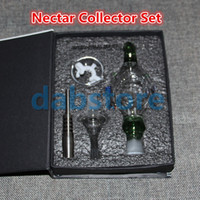 Wholesale nectar collector water pipe for sell for sale - Group buy hot selling mm Nector Collectors with Domeless Nail Fit for Honey Straw Concentrate Nectar Collector Water Glass Pipes Oil Rigs Smoking
