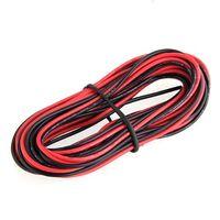кабельный калибр оптовых-Оптово-IMC Hot 2x 3M 24 Gauge AWG Силиконовая резина Жильный кабель Красный Черный Гибкий
