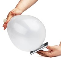 Atacado 10Pcs Hot Sale Close-Up Magic Street Tricks Rubber White Balloon Penetration em um flash clássico atacado