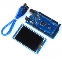 Wholesale Arduino Board Usb - Wholesale-Free shipping! 3.2 inch TFT LCD screen module Ultra HD 320X480 for Arduino + MEGA 2560 R3 Board with usb cable
