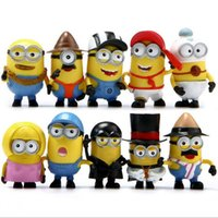 Wholesale Despicable Toys Action - Despicable Me 3 Minions PVC Action Figure Toys Movie Character Figures Dolls 12pcs set Cosplay Christmas Gifts Free by DHL