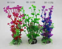Wholesale fish decor resale online - Garden Stunning Artificial Plastic Grass Fish Tank Water Plant Aquarium Decor