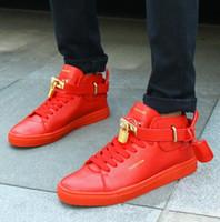 Wholesale Black Hippy - Puck Hip Hop Style Unisex Shoes PU Leather Lock designer shoes men women hippies chaussure basket homme Casual shoes