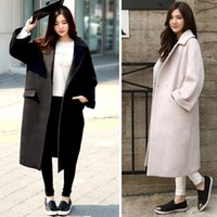 Wholesale Nylon Cocoon - Cocoon Coats Long Jacket Female Winter Woolen Coat Women Loose Thicken Cashmere Wool Coat Plus Size Winter Jacket Parka C2678
