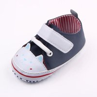 Wholesale Cute Handmade Designs - New Arrival Baby Unisex Sport Walking Shoes Handmade Cute Cat Design Canvas Toe Protection Anti-slip Soft Sole Dress Shoes 0-12 Months