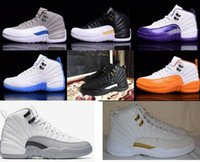Wholesale Dmx 36 - 2016 Retro 12 Basketball Shoes Kids Women Sneakers Sale Taxi Playoffs Gamma White Gray Sports Shoes Retro 12s XII Replicas 36-40