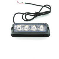acele ışık baraları strobe toptan satış-2 ADET * 4 LED Araba Kamyon Acil Beacon Işık Çubuğu, LED Strobe ışık, motosiklet tekne düz LED flaş ışığı