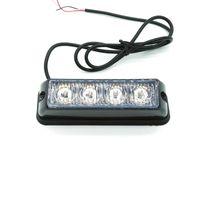 stroboscope led lumières motos achat en gros de-Barre légère de balise de secours de camion de voiture de 2 PCS * 4 LED, lumière stroboscopique de LED, lumière stroboscopique simple de bateau de moto LED