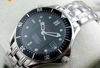 Wholesale Sapphire Automatic Professional - 2017 Hot Luxury Stainless Steel Mens Professional 300m James Bond 007 Blue Black Dial Automatic Watch Men's Watches