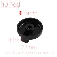 Wholesale-10 PC / Los 8mm Loch Innendurchmesser Küche Gasherd Herd Backofen Kunststoff Switch Control Knob Cover Black
