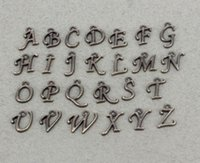 letras del alfabeto de bronce al por mayor-260pcs letras plateadas bronce del alfabeto del metal / letras de A-Z encantos para la fabricación de la joyería