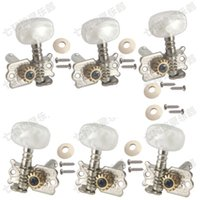 Wholesale Guitars Tuners - free shipping 6PCS set 3R3L Acoustic Classical guitar strings button Tuning Pegs Keys tuner Musical instruments accessories Guitar Parts