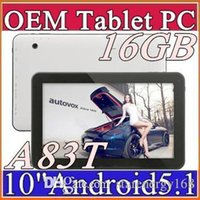 Wholesale Tablet 2ghz 1gb - DHL 2016 16GB Allwinner A83T 10 inch Octa Core Cortex A7@2Ghz Lollipop tablet pc Android 5.1 Bluetooth HDMI USB OTG D-10PB
