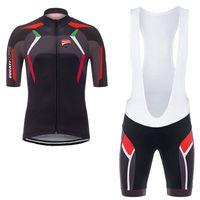 ingrosso cycling-2017 DUCATI CORSE ciclismo maglia 3D gel pad bavaglini Ropa ciclismo pro abbigliamento ciclismo mens estate bicicletta Maillot Suit