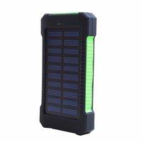 usb externes akku-ladegerät groihandel-Neue Solar-Ladegerät Power Bank 2 USB-Port-Akku Externe Backup-Batterie mit Retail-Box
