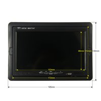 Wholesale Reverse Lcd Displays - Wholesale-7 Inch Color TFT LCD DC 12V Car Monitor Rear View Headrest Display With 2 Channels Video Input For DVD VCD Reversing Camera