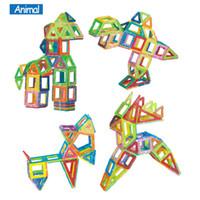 mini brinquedos magnéticos venda por atacado-Blocos Mini 158 pçs / lote Modelos de Construção Magnética Blocos de Construção de Brinquedos DIY 3D Magnético Designer de Aprendizagem Educacional Tijolos Brinquedos Infantis