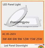 bombillas led led 4w al por mayor-Envío libre de DHL 20PCS 3W 4W 6W 9W 12W 15W 18W CREE LED empotrado en el panel de techo Luces de abajo Lámpara de bombilla Blanco cálido / frío