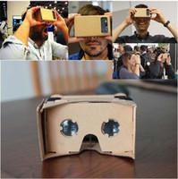 vr brillen zum verkauf großhandel-3D DIY Google Karton Brille Virtual Reality VR Brille für die 3-6 Zoll-Bildschirm Handys iPhone 5 SE 6S 7 Samsung s8 plus Verkauf