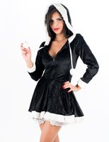 Wholesale Costume Theatre - New Arrival Eskimo Cutie Women's Sexy Theatre Costumes High Quality Miss Santa Dress Christmas Fancy Hooded Dress Xmas Gift W4005
