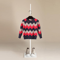 Wholesale Wool Sweaters For Kids - 2017 Autumn Brand Design O-Neck Boy Sweater Wool Knitted Pullover Cardigan For Baby Girls Children Clothes Kids Infant Top