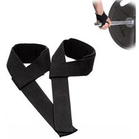 Wholesale Wristband Fingerless Gloves Wholesale - Wholesale-High Quality Weight Lifting 1pair Grip tape Training Straps Fitness Gym Wrist Support For Men Weightlifting Sport Wristband