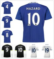 Wholesale Chelsea Jersey Shorts - 2016 2017 TOP Quality Chelsea Soccer Jerseys 16 17 Home Blue White black Third TERRY Willian HAZARD Pedro OSCAR DIEGO COSTA Football Shirts