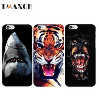 Wholesale Iphone Dog Hard Case - Cool Wild Animal Italy Brand Designers Hard Phone Case For fundas iPhone 5 5s SE 6 6s Tiger Dog White Shark Pattern Capinhas
