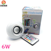 Wholesale E27 Led Iphone - 2016 Hot Seller Smart Speaker Wireless Bluetooth Remote Control LED RGB Color Bulbs Lights Lamps E27 Music Audio Speaker Suit for iphone