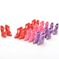 Wholesale Doll High Heel Shoes - New Baby DIY Toy 10 Pairs Mix High Heels Shoes Doll Designs Vary Color Random Accessories