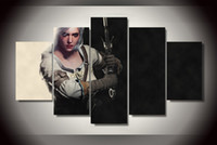 Wholesale Canvas Pier - 5 Panel HD Printed the witcher 3 wild hunt Painting Canvas Print room decor print poster picture canvas pier canvas