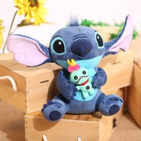 Wholesale Stitch Dolls For Sales - 23cm Hot Sale Cute Cartoon Lilo and Stitch Plush Toy Soft Stuffed Animal Dolls Best Gift for Children Kids Toy