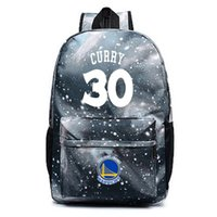 Wholesale Wheels School Bags - Messi ling school bag The warriors backpack Kevin durant Stephen curry male and female students bag Luminous version of laptop bag
