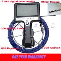 Wholesale Dvr 6mm - Handheld Pipe camera inspection detector underground sewer camera Endoscope 6mm camera head DVR function 710DK5-SCJ 8GB SD card