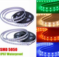 Wholesale Silicone Led Waterproof Smd - DC12V SMD 5050 RGB Silicone Tube led strips 60LEDs M IP67 Waterproof outdoor led christmas decoration lights 12V led Flexible Lighting