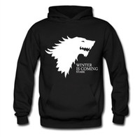 Wholesale House Hoodies - Wholesale-Free Shipping American Drama Game of Thrones Printing Hoodies House Stark of Winterfell Pullover Hoody