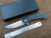blue moon toptan satış-Yeni KESIWO Mavi-moon Titanyum kolu katlanır bıçak açık kamp av bıçağı bıçaklar D2 blade programı cep EDC bıçak