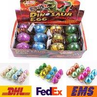 Wholesale Egg Easter Box - Easter Egg Dinosaur Hatch Eggs Children Kids Jokes Funny Toys Novelty Educational Learning Toys XMAS Gifts 5-7CM 12pcs box WX-T76
